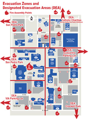 SAC : About SAC : Compliance : Emergency Information ... San Antonio College Map on sac campus map, rockford college map, wyoming college map, pasadena college map, gulf coast college map, miami college map, city college of san francisco map, grand canyon college map, albany college map, valparaiso college map, oklahoma college map, hudson valley college map, buffalo college map, utah college map, long beach college map, denver college map, new jersey college map, university of houston college map, richmond college map, saint philips college map,