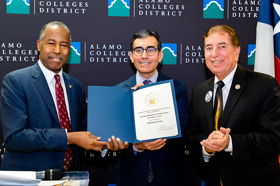 HUD Secretary Carson Designates Alamo Colleges' Eastside Center as Federal Envision Site