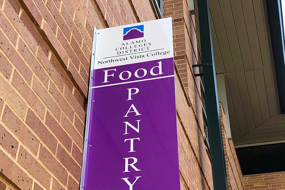 Photo of Northwest Vista College's Food Pantry