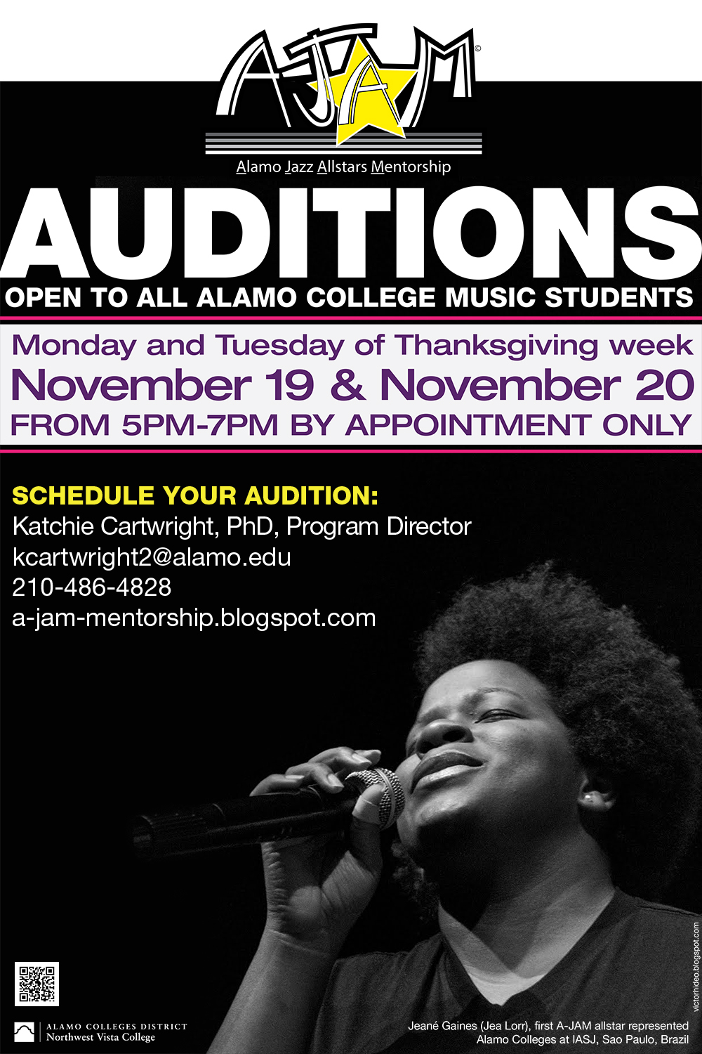 A-JAM audition graphic