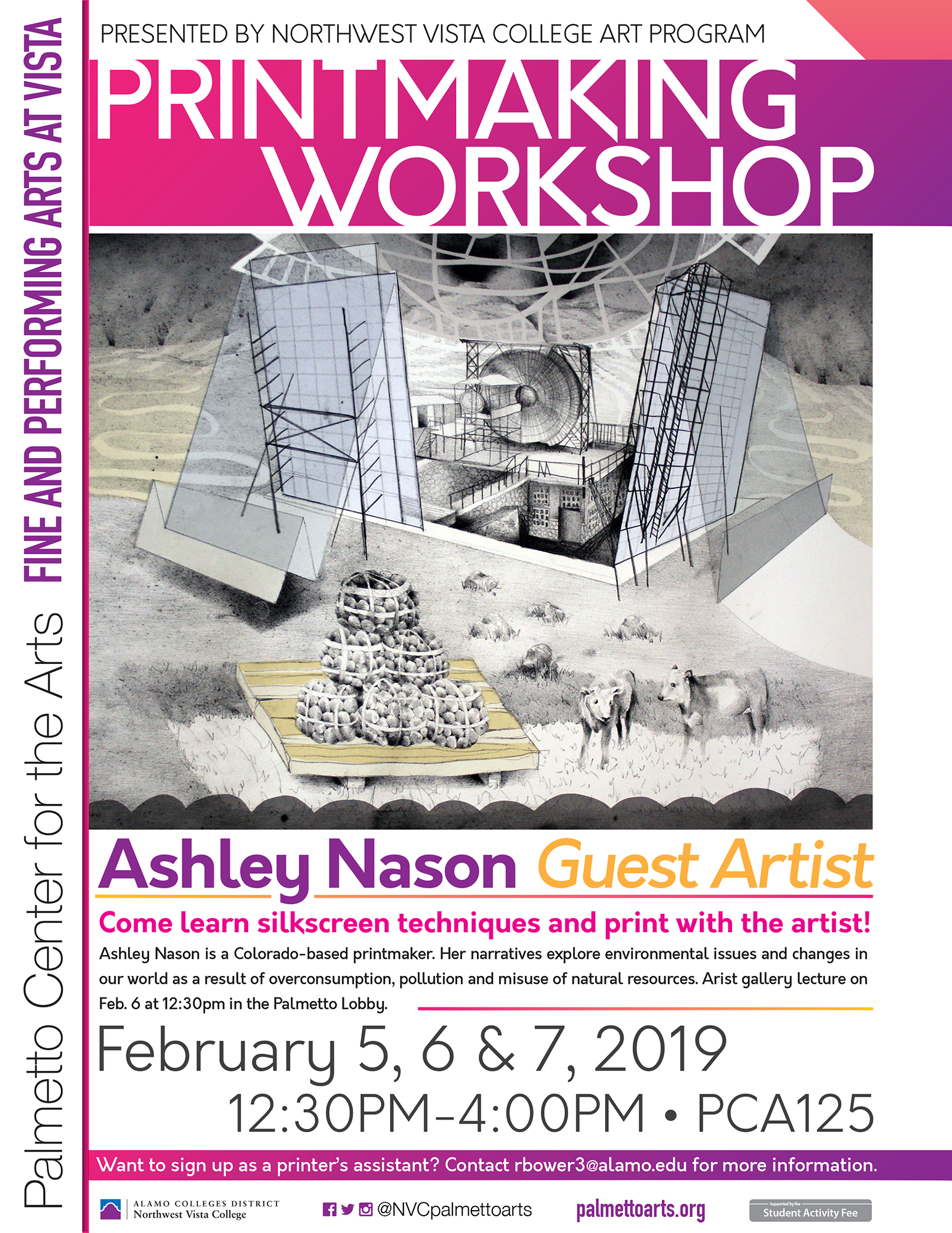 Ashley Nason printmaking workshop