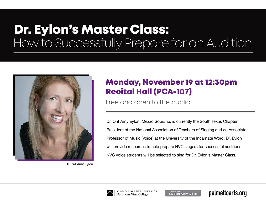 flyer for voice master class