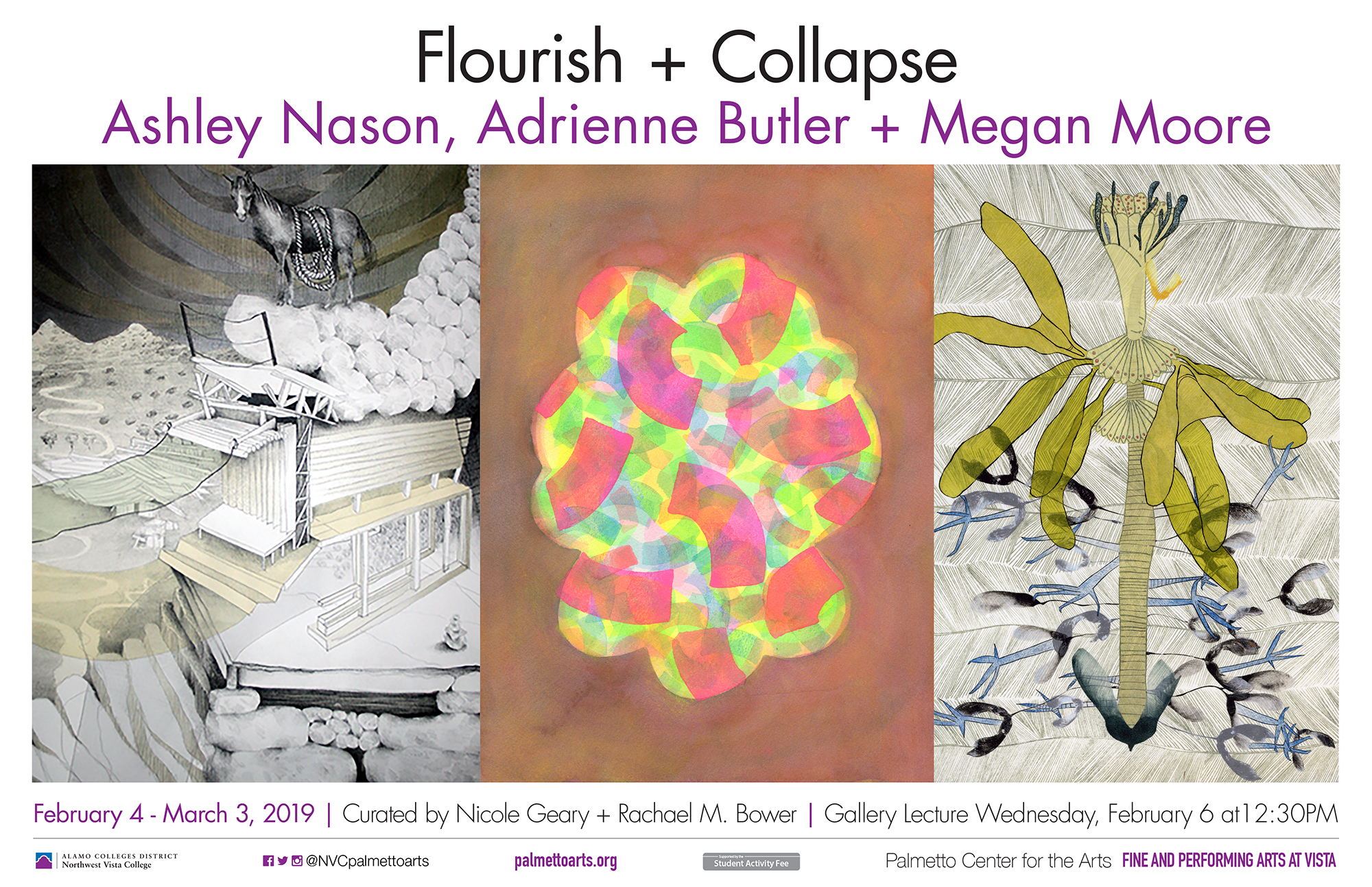 Flourish+Collapse art exhibit flyer