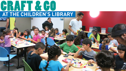 Craft and go at the Children's Library
