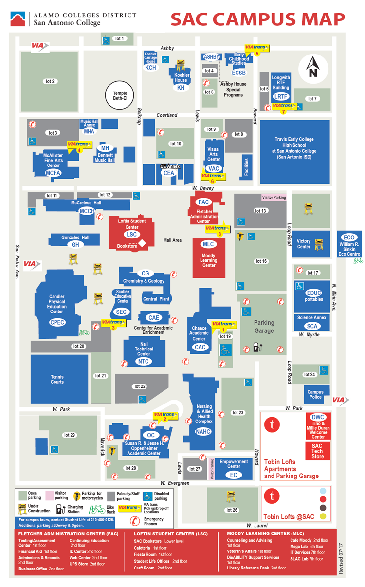 Sac Campus Map SAC : About SAC : College Offices : Outreach & Recruitment  Sac Campus Map