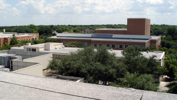 Aerial view of MLK campus